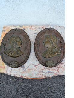 Pair of 19th century plaques