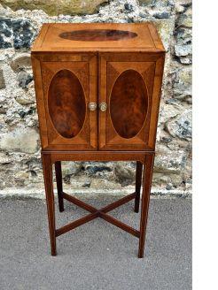19th century mahogany cabinet on stand