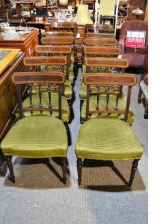 Set of twelve georgian mahogany chairs