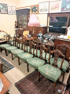 Set of twelve dining room chairs