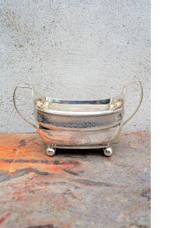 William iv irish silver basin