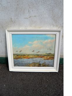 Framed signed oil on canvas