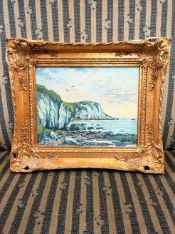 Gilt framed oil on board