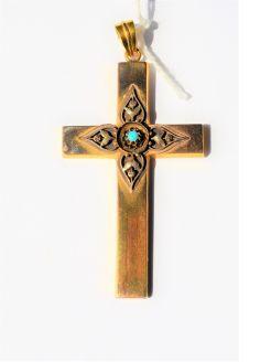 Antique gold cross