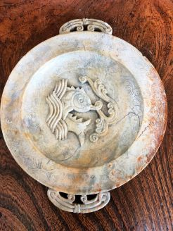 Antique chinese soapstone dish
