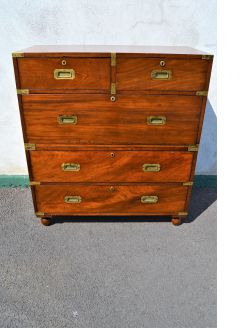 Victorian mahogany campaign chest