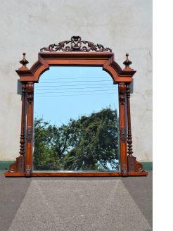 Victorian mahogany overmantle mirror