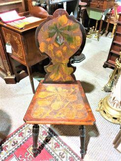 Victorian pokerwork chair