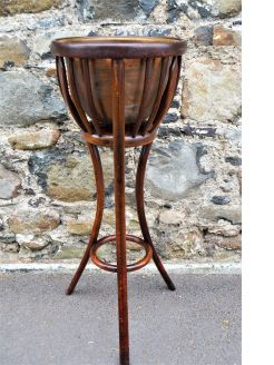 1920s bentwood plant stand / jardiniere