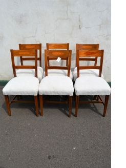 Set of six georgian mahogany bar back chairs