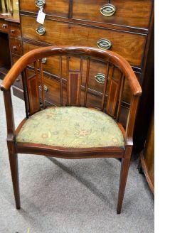 Edwardian mahogany chair