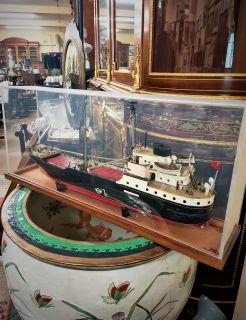 Cased model ship