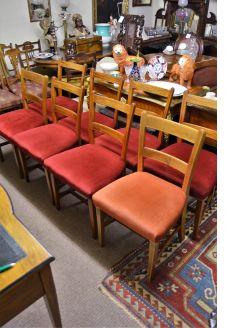 Set of eight georgian mahogany chairs