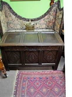 18th century oak cased coffer