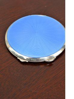 Silver & enamel powder compact