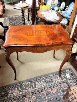 Burr - walnut side table