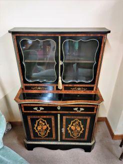 19th century ebony secretaire cabinet
