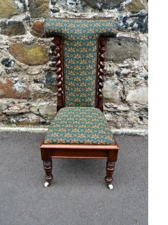 Victorian mahogany prayer chair