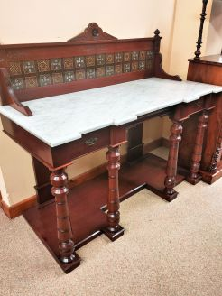 Victorian mahogany marble topped washstand