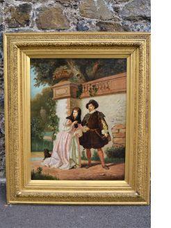Gilt framed oil on canvas (re-lined)