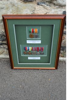 Cased set of medals