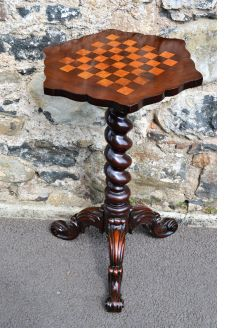 Victorian mahogany games table