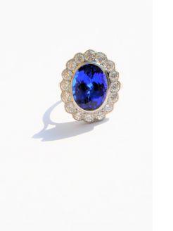 Platium & diamond & tanzanite