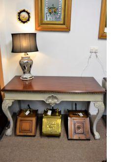 Mahogany bespoke painted side table
