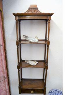 Mahogany hanging shelves