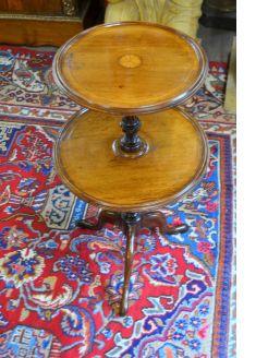 Mahogany two tier table