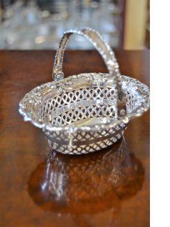 Pierced silver basket