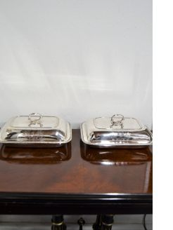 Pair of irish georgian silver tureens