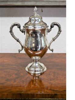 Irish silver cup & cover