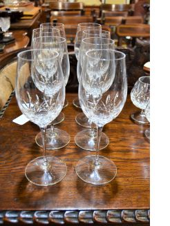 Set of eight waterford wine glasses