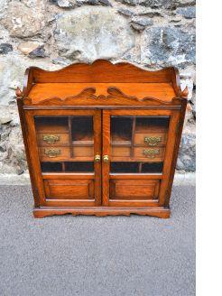 Oak smokers cabinet