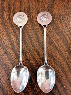 Pair of silver tea spoons