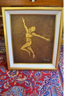 Gilt framed modern oil on canvas