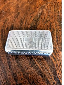Georgian silver snuff box