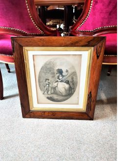 19th century rosewood framed engraving