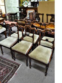 Set of 19th century mahogany chairs