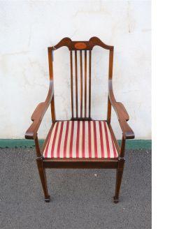 Edwardian mahogany armchair