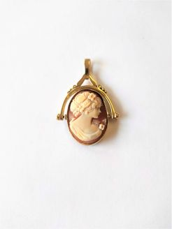 9ct gold fob / cameo