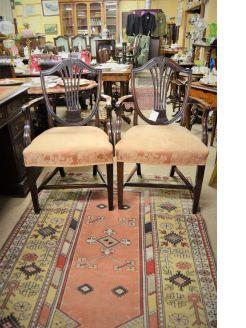 Pair of 19th century mahogany armchairs