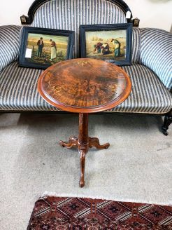 Victorian walnut inlaid occasional table