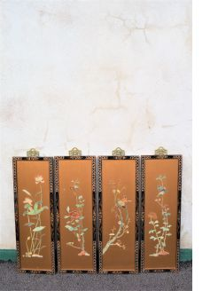 Set of four chinese pannels