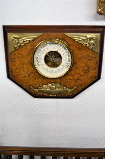Art deco french walnut barometer