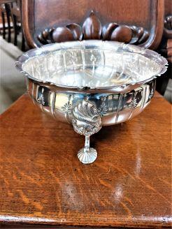 Irish silver rose bowl