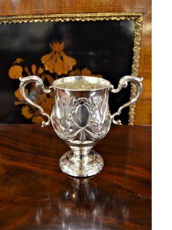 18th century irish silver cup