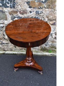 Victorian rosewood drum table