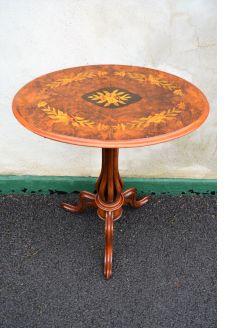 Victorian burr walnut snap top table